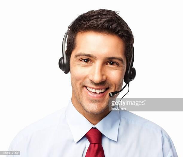 Männliche Kunden Vertreter-isoliert