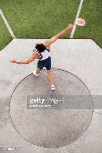 Male discus thrower : Stock Photo