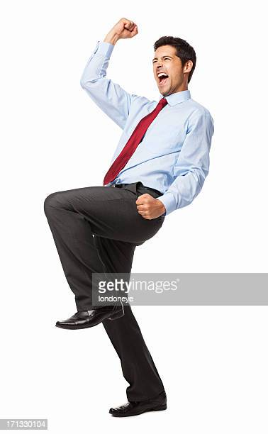 Male Executive Celebrating Success - Isolated