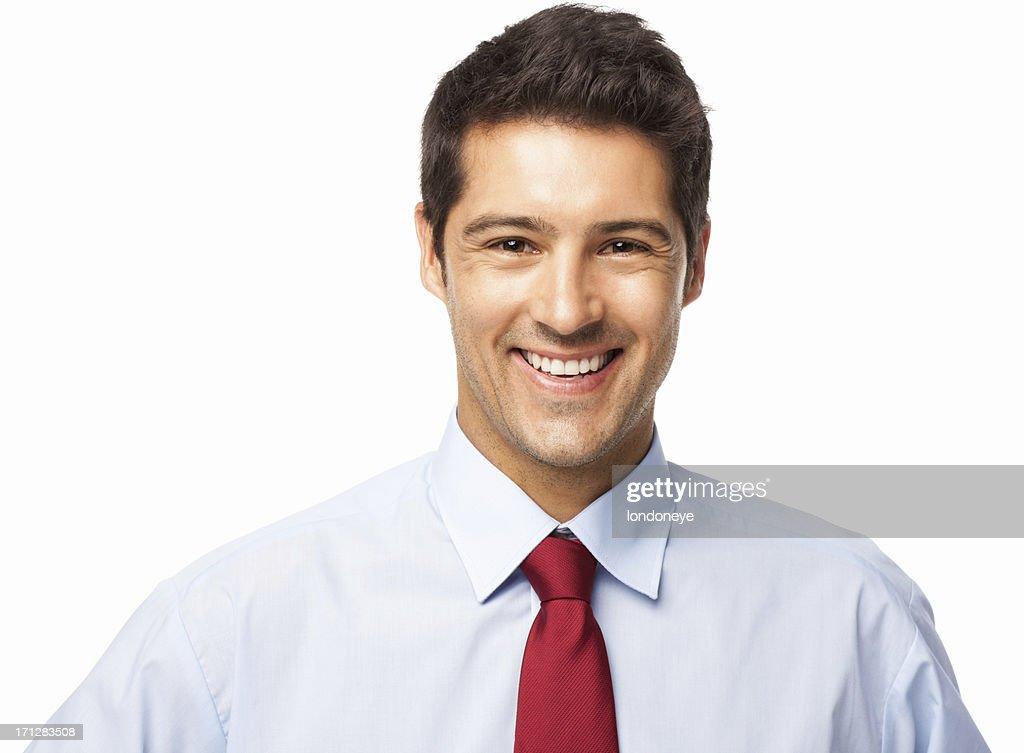 Male Executive Smiling - Isolated : Stock Photo