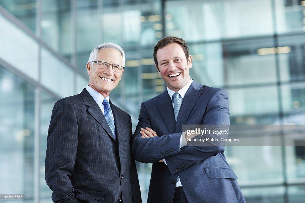 Male executives with pleasing personality