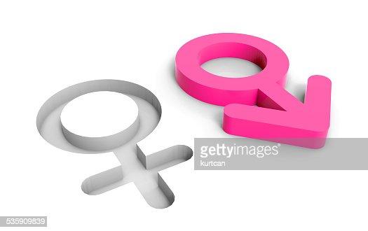 male female gender symbols : Stock Photo