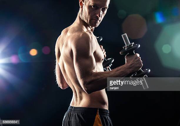 Male fitness portrait