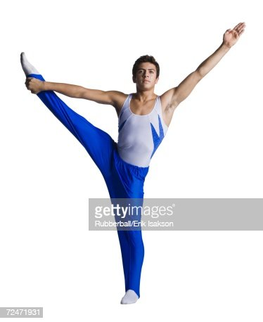 Male Gymnast Doing Floor Exercises Stock Photo | Getty Images