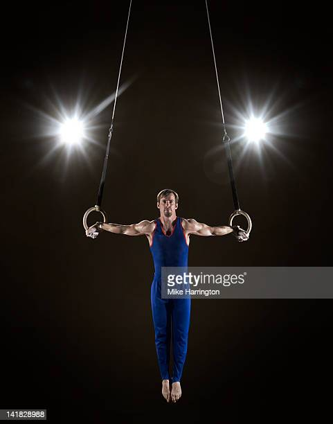 Male Gymnast on Rings