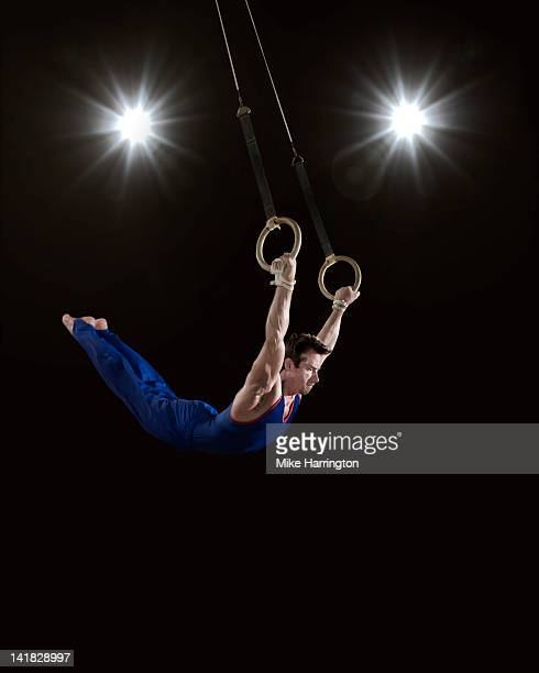 Male Gymnast on Rings