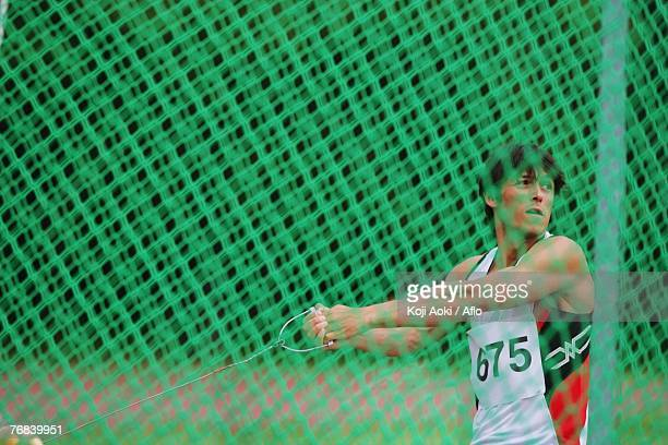 Male Hammer Thrower Winding Up