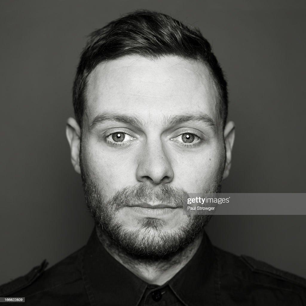 Male headshot, Square B/W
