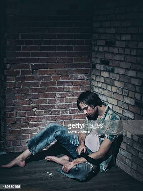 Männliche Heroin Suchtkranker