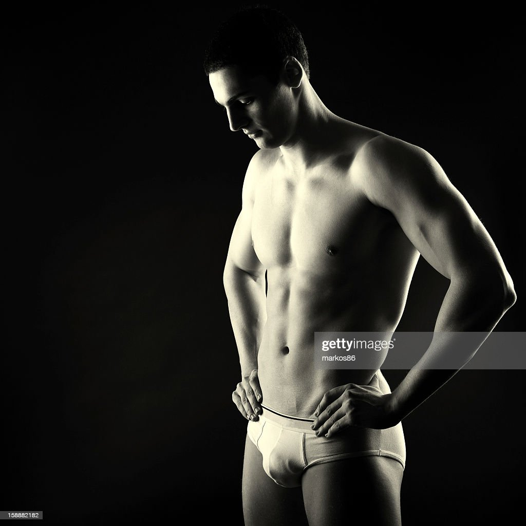 Male in underwear : Stock Photo