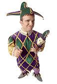 Male jester, portrait