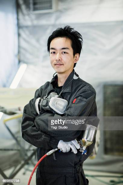 Male mechanic in an automotive repair shop