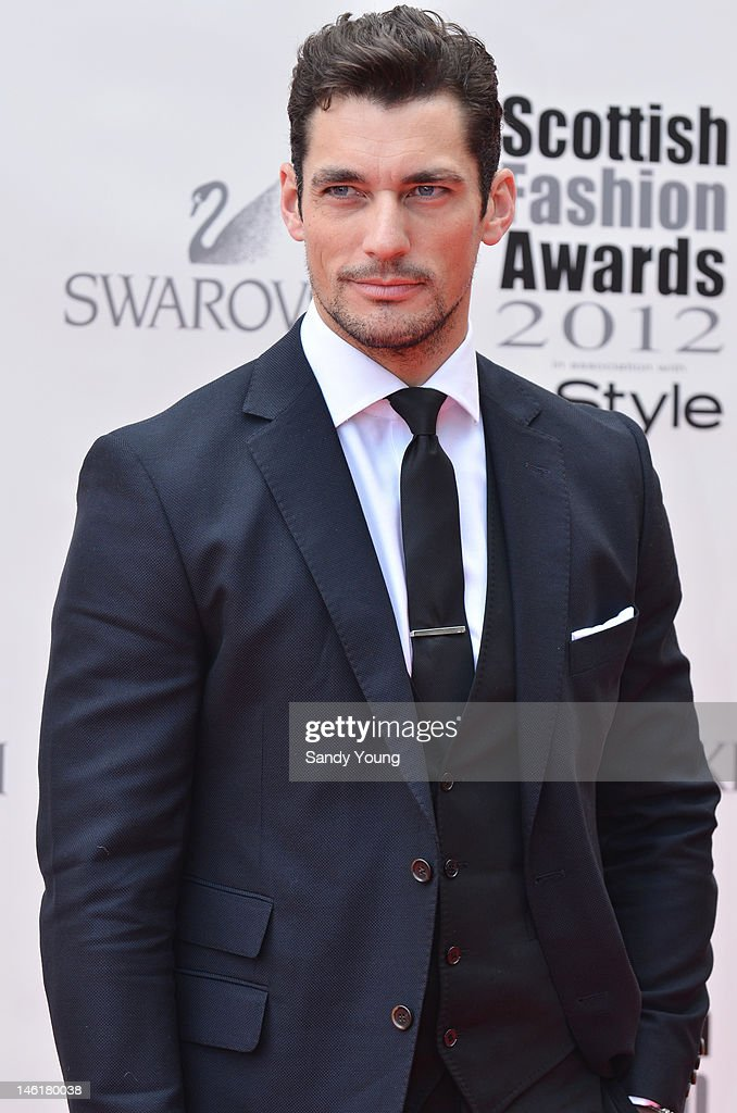 Male model David Gandy attends Scotland's most high-profile celebration of fashion and style which recognises scottish designers who have made a significant contribution to the industry at The Clyde Auditorium on June 11, 2012 in Glasgow, Scotland.
