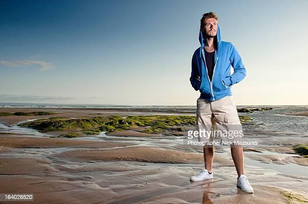 Male Model On Beautiful Beach