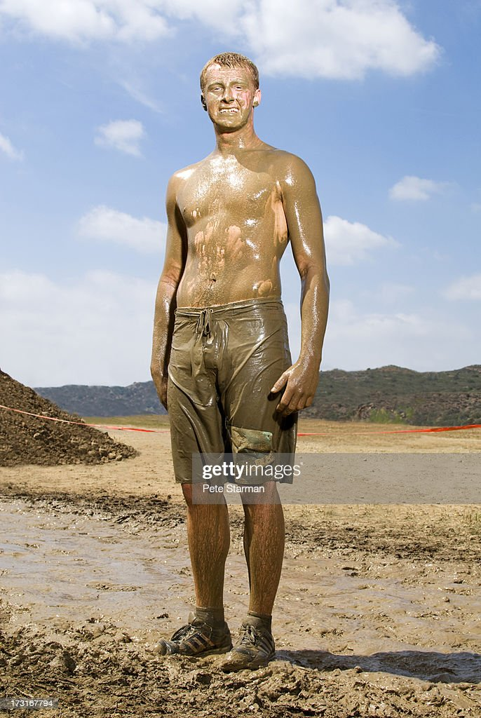 Male Mud Run competitor( 18-24) yrs old. : Stock Photo