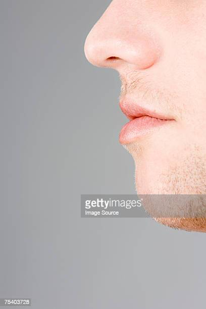 Male nose and mouth