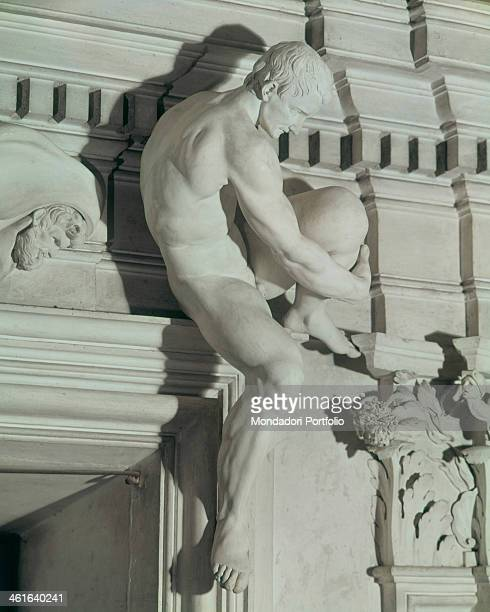 Male Nude by Giacomo Serpotta 1686 1696 17th Century stucco Italy Sicily Palermo Oratory of the Rosary in Saint Lorenzo Whole artwork view Male...