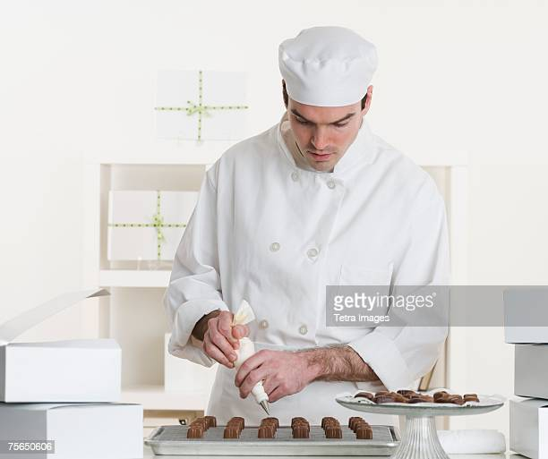 Male pastry chef in kitchen