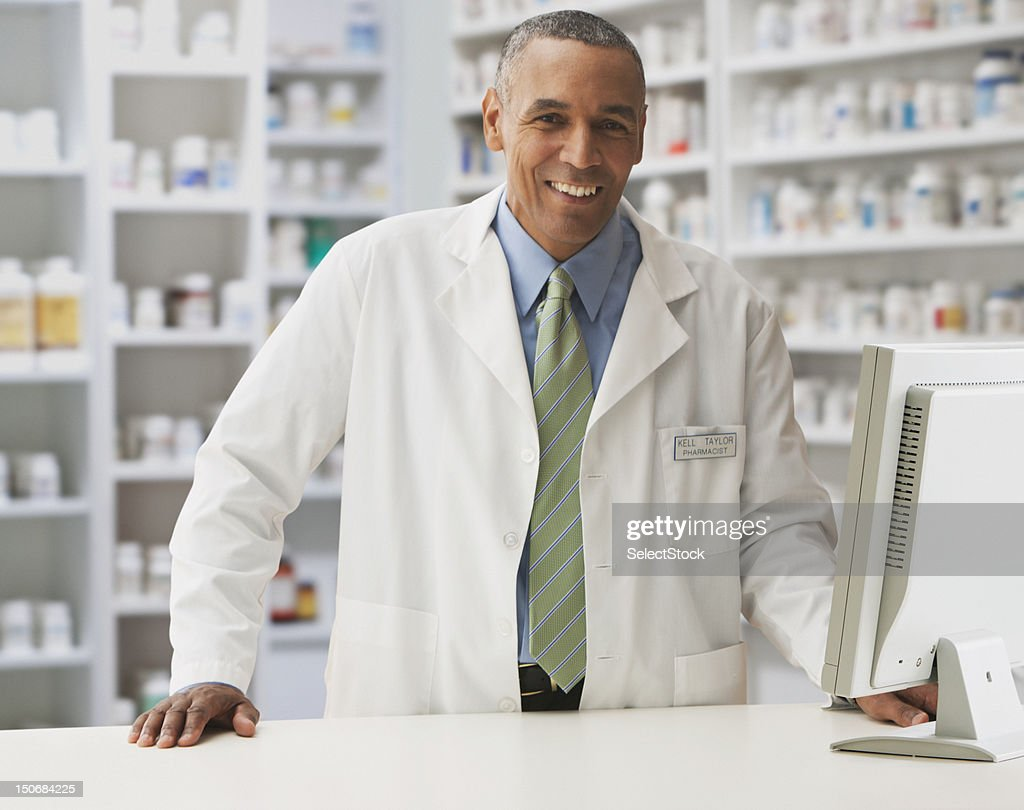 Male pharmacist : Stock Photo