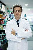 Male pharmacist, portrait
