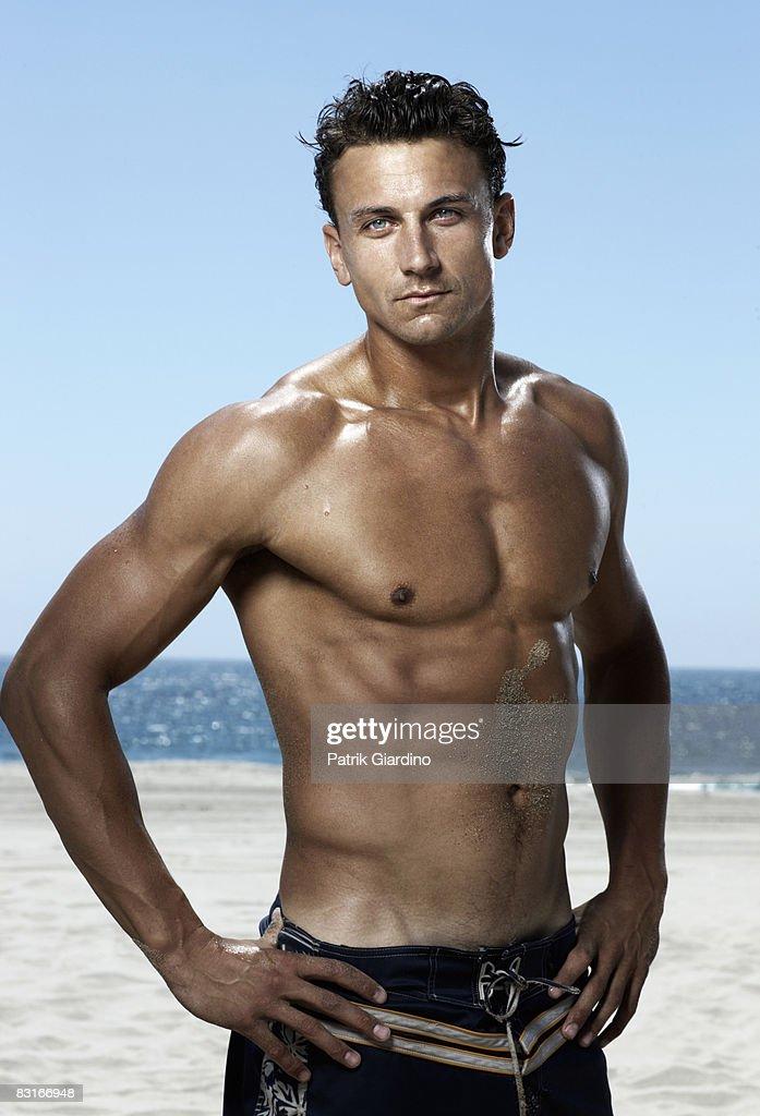 Male Portrait on the Beach : Stock Photo