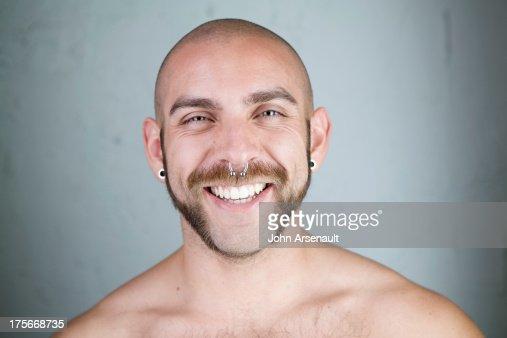Male, portrait, studio, identity, real person : Stock Photo
