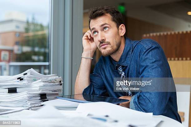 Male professional at desk