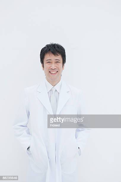Male scientist smiling, portrait