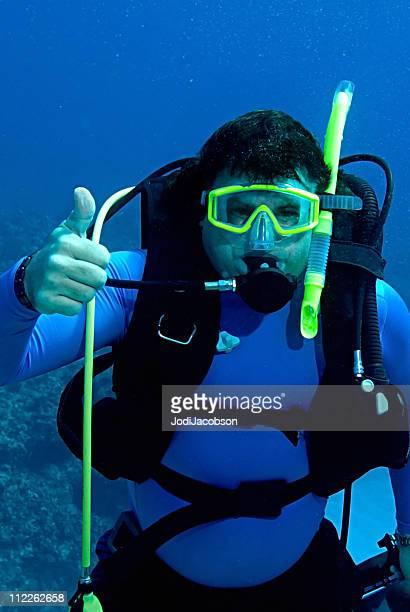 Male Scuba Diver hand signal