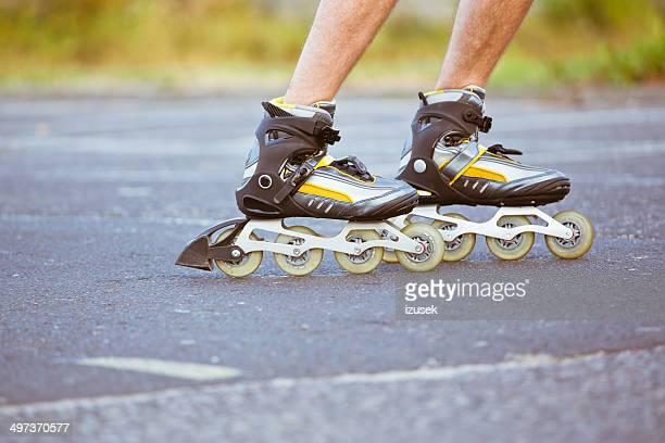 Männliche skater