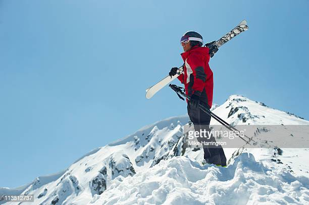 Male Skier Looking Over Bansko Mountains