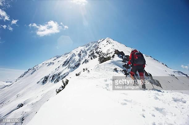 Male Skier Trekking The Bansko Mountains