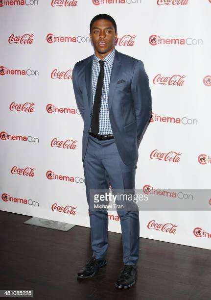 Male Star of Tomorrow award winner Chadwick Boseman attends The CinemaCon Big Screen Achievement Awards at Cinemacon 2014 Day 4 held at The Colosseum...