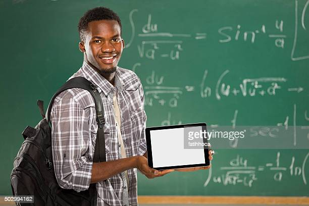 Male Student and Tablet