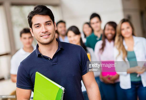 Male student at the university