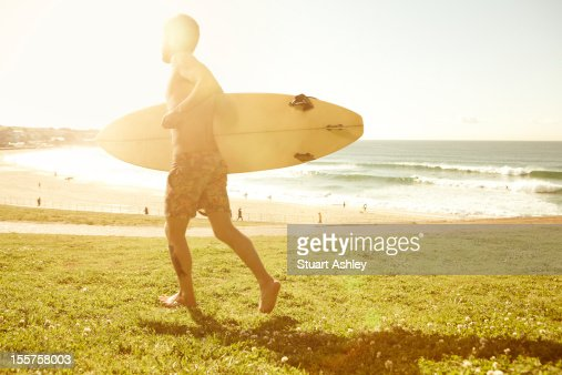 Male surfer in Bondi, Australia : Stock Photo