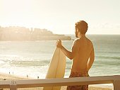 Male surfer in Bondi, Australia