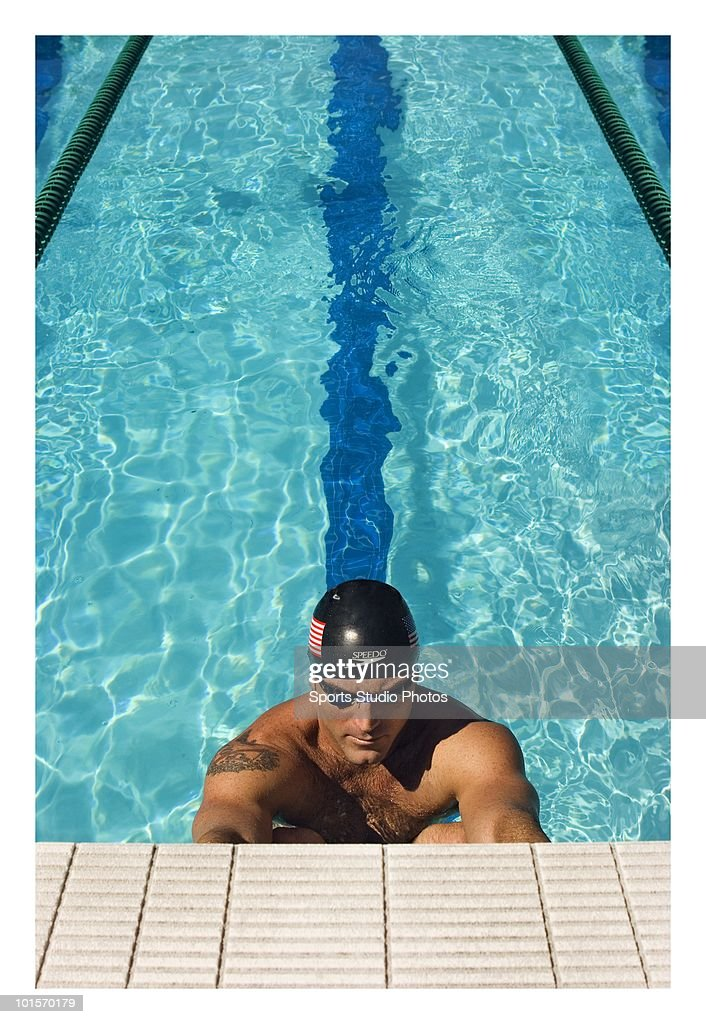Male swimmer photographed circa 2009 in Southern California. (Photo by Toky/Sports Studio Photos/Getty Images).