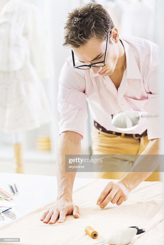 Male tailor at work. : Stock Photo
