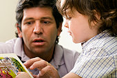 Male teacher teaching his student