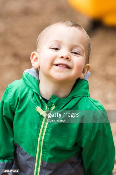 male toddler smiling
