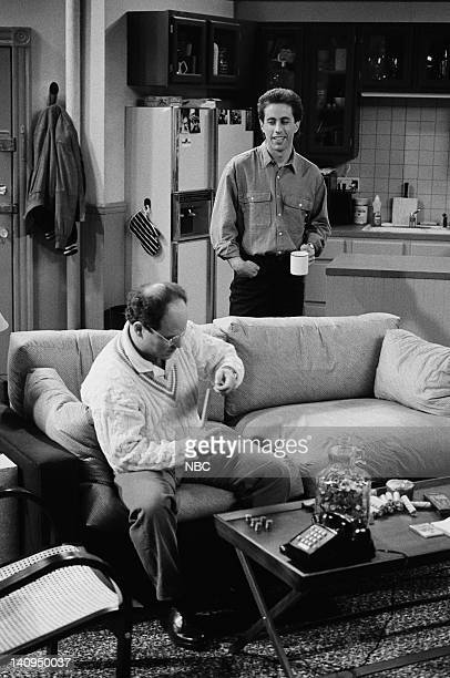 SEINFELD 'Male Unbonding' Episode 4 Pictured Jason Alexander as George Costanza Jerry Seinfeld as Jerry Seinfeld Photo by Paul Drinkwater/NBCU Photo...