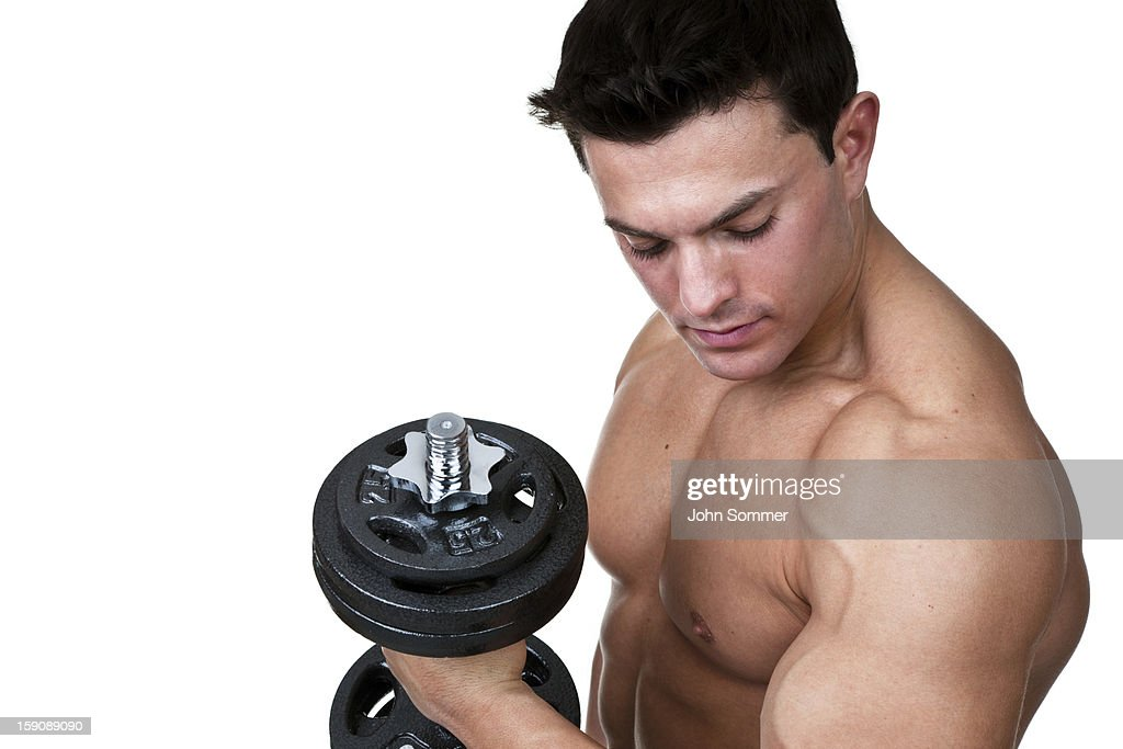 Male weightlifter : Stock Photo