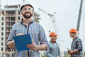 Male work building construction engineering occupation writing