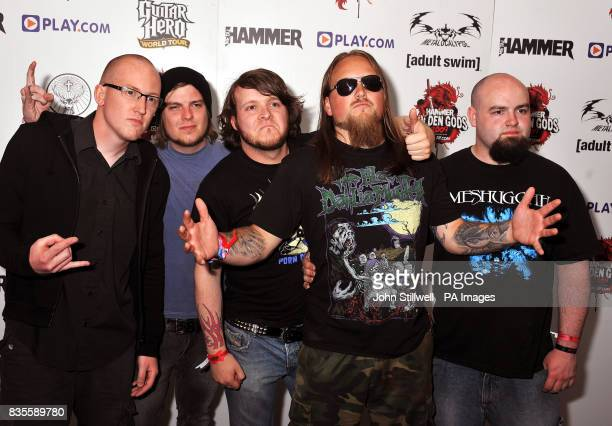 Malefice arrive at the Indigo concert venue for the Metal Hammer Golden Gods awards at the O2 Arena in Greenwich south East London