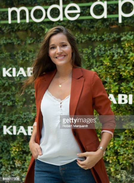 Malena Costa attends a photocall for the new KIABI store opening on September 13 2017 in Barcelona Spain
