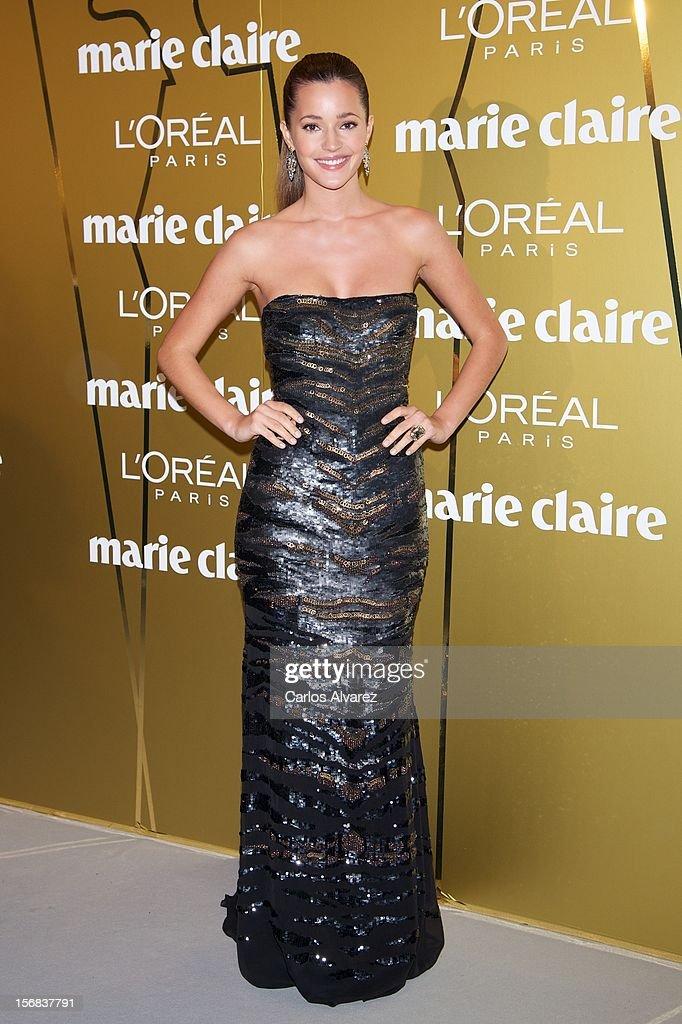 Malena Costa attends Marie Claire Prix de la Moda Awards 2012 at the French Embassy on November 22, 2012 in Madrid, Spain.