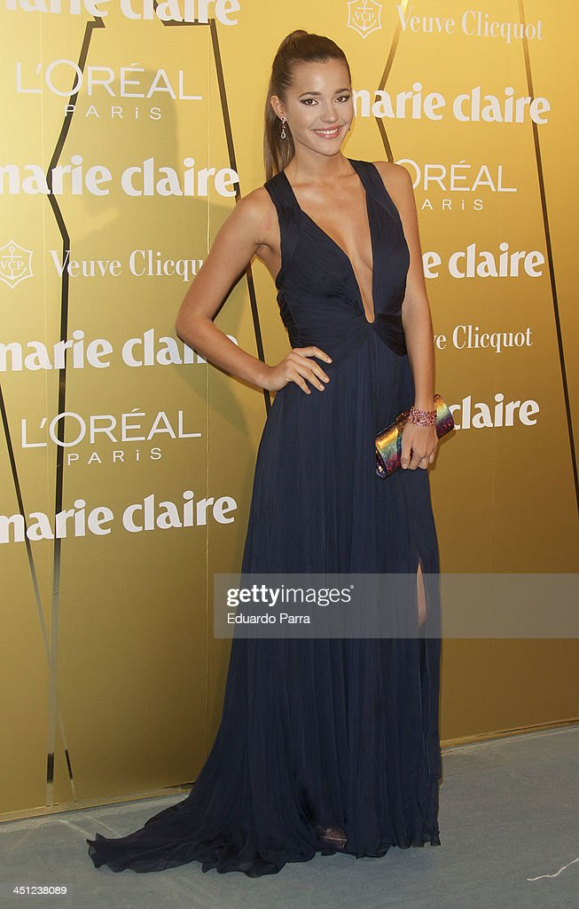 Malena Costa attends 'Marie Claire Prix de la moda' awards 2013 photocall at Residence of France on November 21, 2013 in Madrid, Spain.