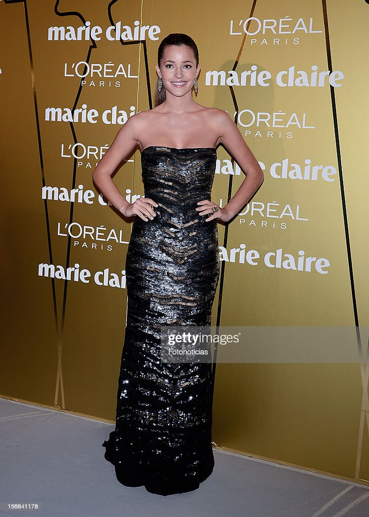 Malena Costa attends 'Marie Claire Prix de la Mode 2012' ceremony at the French Ambassadors Residence on November 22, 2012 in Madrid, Spain.