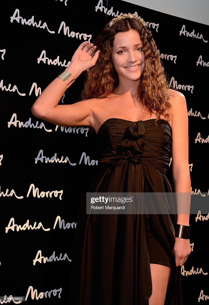Malena Costa poses backstage during the Andrea Morros fashion show on February 23 2012 in Barcelona Spain